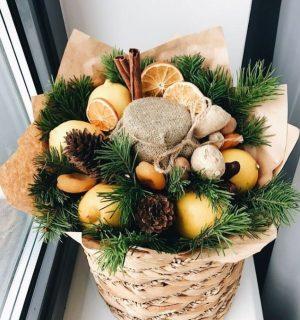Зимний букет с медом, лимоном, имбирем и сухофруктами
